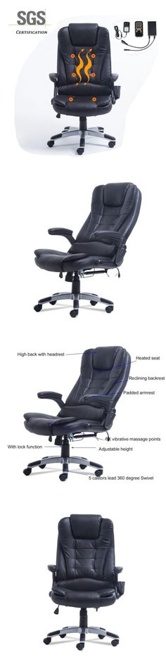 Electric Massage Chairs: 6 Point Massage Office Chair Executive Deluxe Chair Reclining Adjust Swivel -> BUY IT NOW ONLY: $112.57 on eBay!