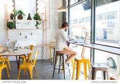 Trendy working space looking out on the street   Superette   Photo: @Amanda Snelson Drost