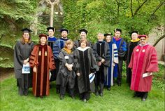Some of our fine faculty in their Commencement best!