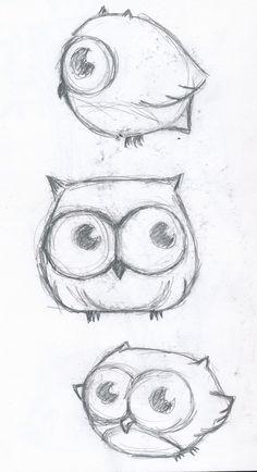 Cute owl drawing | Draws, paints...Art Dibujos, pinturas... Arte ...