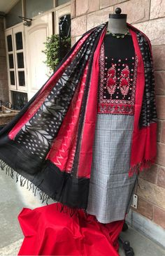 Indian Outfits, Ikat, Kurti, Hand Embroidery, Designer Dresses, Kimono Top, Saree, Happy, Tops