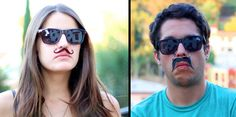Mustache Sunglasses... I would like a pair.