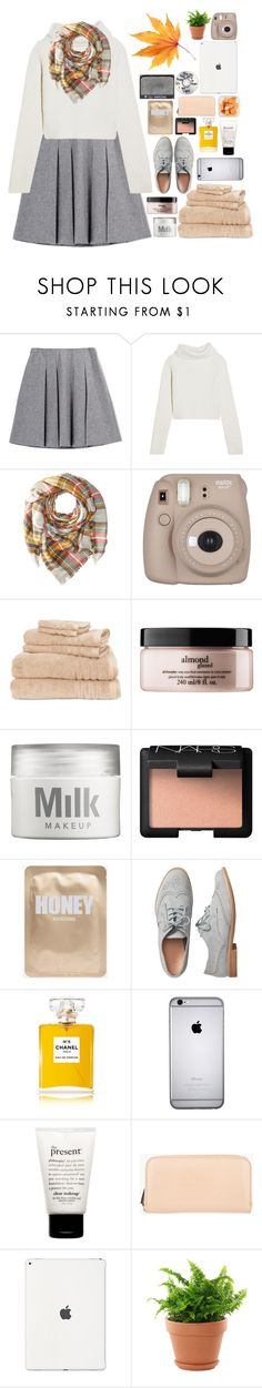 """""""Autumn Leaves Falling Down Like Pieces Into Place"""" by theafergusma ❤ liked on Polyvore featuring Fall Winter Spring Summer, Haider Ackermann, Hat Attack, Fujifilm, Lenox, philosophy, MILK MAKEUP, NARS Cosmetics, Gap and Chanel"""