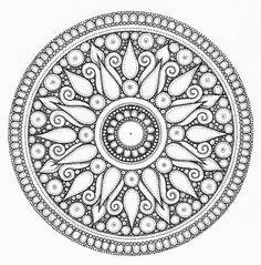 round flower desgin