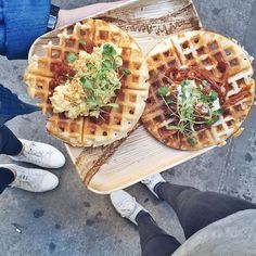 Talking sustainability & giving back with @sashayogawellness over gluten free waffles made from fermented lentils & rice flour at @inday_nyc  #breakfastcriminals