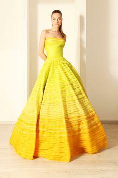 Rami Kadi Tiered Silk Organza Gown
