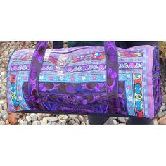 Item 91 - Hand Made Accessories Medium Duffle Tote (color 3 purple) | Plymouth Yarn