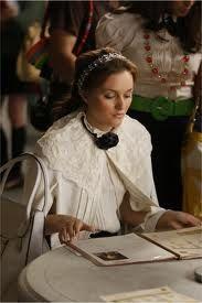 Jennifer Behr Double Crystal Scallop Headwrap on Blair Waldorf in Gossip Girl
