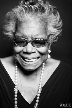 The world lost Maya Angelou today. In memoriam: 1928–2014. Photograph by Taylor Jewell