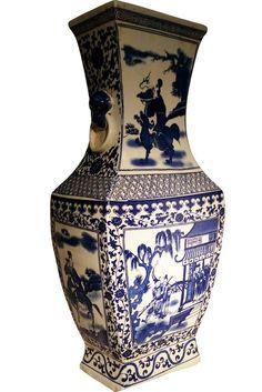 Blue And White Vase, White Vases, Traditional Vases, Jade Tree, Asian Landscape, Chrysanthemum Flower, Daisy Chain, White Paneling, Floral Border