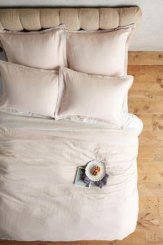 Slide View: 1: Relaxed Cotton-Linen Duvet
