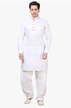 Kurta Pathani For Men, Boys Kurta Design, White Kurta, Indian Groom Wear, Kurta Style, Mens Kurta Designs, Formal Shirts For Men, Boho Fashion, Mens Fashion