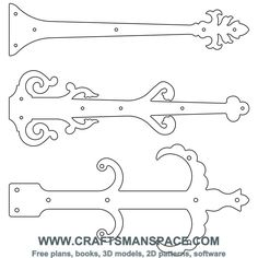 Skeleton key pattern. Use the printable outline for crafts