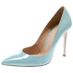 f910487fb58d Gianvito Rossi Heels - Powder Patent Leather Pointed Toe Pumps Leather