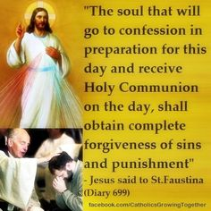 St Faustina on the Feast of the Divine Mercy