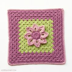 Hopeful Honey | Craft, Crochet, Create: Water Lily Afghan Square Crochet Pattern