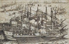 Victory of the Ottoman Navy led by Barbarossa against Allied European Navies led by Andrea Doria in Preveza, 28 September 1538.