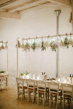 Hanging Herb Wedding Decor | photography by http://www.lesamisphoto.com Stimulife Health