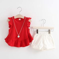 Cheap baby girl clothes, Buy Quality baby girl fashion clothes directly from China fashion baby girl clothes Suppliers: BbibiCola Fashion Girls Summer Clothing Sets Baby Girls Clothes Toddler Kids Clothes Sets T-Shirt + White Shorts Suits Baby Outfits, Little Girl Dresses, Kids Outfits, Baby Girl Fashion, Fashion Kids, Fashion Outfits, Fashion Pants, Fashion Clothes, Baby Dress Patterns