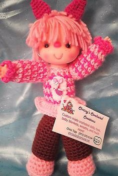 Adorable-10-Hand-Crocheted-Doll-Lil-Pink-Piglet-themed