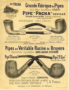 Vintage pipe ad