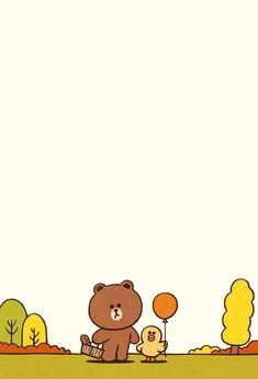 BROWN & FRIENDS Picnic | Line Wallpaper Inside Page Duck Wallpaper, Lines Wallpaper, Brown Wallpaper, Wallpaper Backgrounds, Iphone Wallpaper, Line Brown Bear, Brown Line, Harry Potter Family Tree, Ramadan Cards