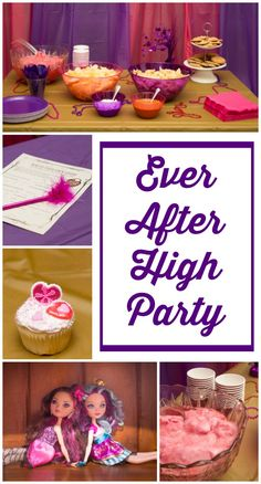 Ever After High party on a budget.