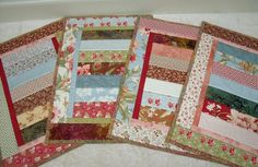 Quilted PlacematsSet of 4 by vschwam on Etsy, $45.00