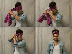50 Trendy How To Wear Scarves In Hair Head Wraps 50 Trendy how to wear scarves in hair wraps to wear Hair Wrap Scarf, Head Wrap Headband, Hair Dos, My Hair, Curly Hair Styles, Natural Hair Styles, Head Scarf Styles, Pelo Afro, African Head Wraps