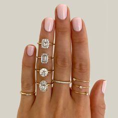 Thin Engagement Rings, Engagement Ring Settings, Most Popular Engagement Rings, Vintage Engagement Rings, Diamond City, Dream Ring, Wedding Ring Bands, Diamond Shapes, Fashion Rings
