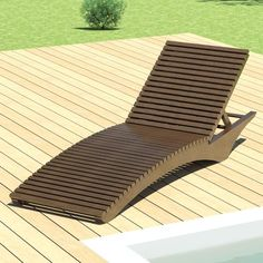A lounge chair, or sun chair designed for outdoor placement in a garden, hotel swimming pool deck or tourist resort. Based in a real furniture element by outdoor furniture company 'Janus et Cie.'.