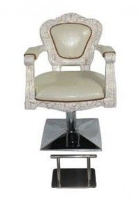 Antique Styling Barber Chair White