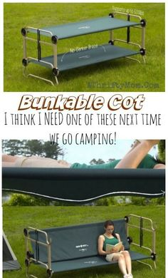 Its hunting season! I think my hubby needs this! Portable Bunk Beds, Camping hacks that will change your life, Bunkable cot perfect for living or camping in small spaces Camping Hacks, Camping Bedarf, Camping Survival, Family Camping, Camping Ideas, Backpacking Gear, Camping Checklist, Camping Jokes, Camping Toilet