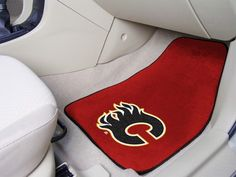 NHL Officially licensed products Calgary Flames Printed Carpet Car Mats Show your fandom even while driving with Carpet Car Mats from Sports Lice Car Mats, Car Floor Mats, Entry Mats, University Of Wisconsin, State University, Loyola University, Missouri Tigers, Nylon Carpet, Indiana Pacers