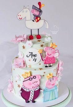 Birthday Cupcakes Decoration Ideas Cake Tutorial Ideas For 2019 Bolo Da Peppa Pig, Peppa Pig Birthday Cake, Birthday Cake Girls, Birthday Cupcakes, Fondant Cupcakes, Fun Cupcakes, Cupcake Cakes, Rodjendanske Torte, Fete Halloween