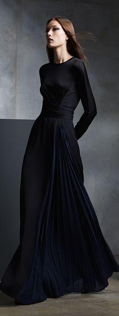 【ドレス Dresses 長袖 Long sleeve 黒 black】Issa, Pre-Fall 2015.