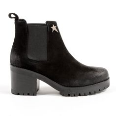 Andrew Charles By Andy Hilfiger Andrew Charles Womens Ankle Boot Black Wendy Black Ankle Boots, Suede Leather, Chelsea Boots, Booty, Heels, Composition, Color Black, Italy, Products