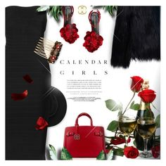 """""""Depth of Red"""" by monazor ❤ liked on Polyvore featuring Ermanno Scervino, Kerr®, WithChic, Hervé Léger, Dolce&Gabbana, romance, chicoutfit and StvalentinesDay"""
