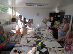 HOBBYKUNST - mixed media kurs med Connie