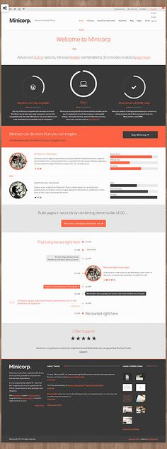 best websites - Minicorp WP - Not Just a Corporate Theme