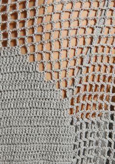 Crochet Filet Skull Sweater