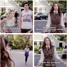 PLL 5x10 Lol Spencer is right she is faster then her and she has a car