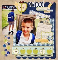 sketch savvy: School Days Scrapbooking Layout Idea