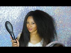 How to straighten Natural Hair instantly without Heat Damage - YouTube