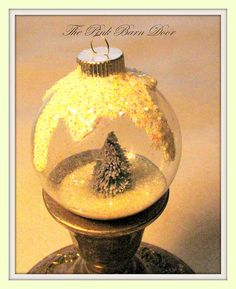 Three Snow Globe Christmas Ornaments by ThePinkBarnDoor on Etsy