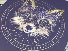 Fox Print 8x10 Fox Art / Metallic Foil Illustration Artwork / image 1 Wiccan Decor, Pagan Altar, Fox Totem, Wiccan Art, Wiccan Jewelry, Pagan Witch, Fox Print, Artwork Images, Witch Aesthetic