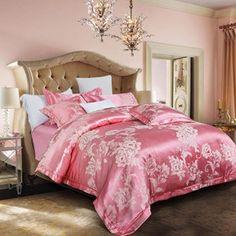 0ce9e28d8570 Bohemian style print silk cotton jacquard duvet cover set light violet  linens 4pcs Queen King size bedding sets