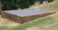preparing a pad for a shed on a slope - Google Search