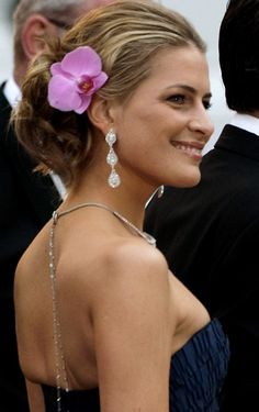 Princess Tatiana of Greece - orchid updo