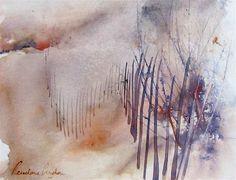 SOIR DANS LES DUNES - Painting,  60x50 cm ©2007 por Reine-Marie PiNCHON -  Pintura
